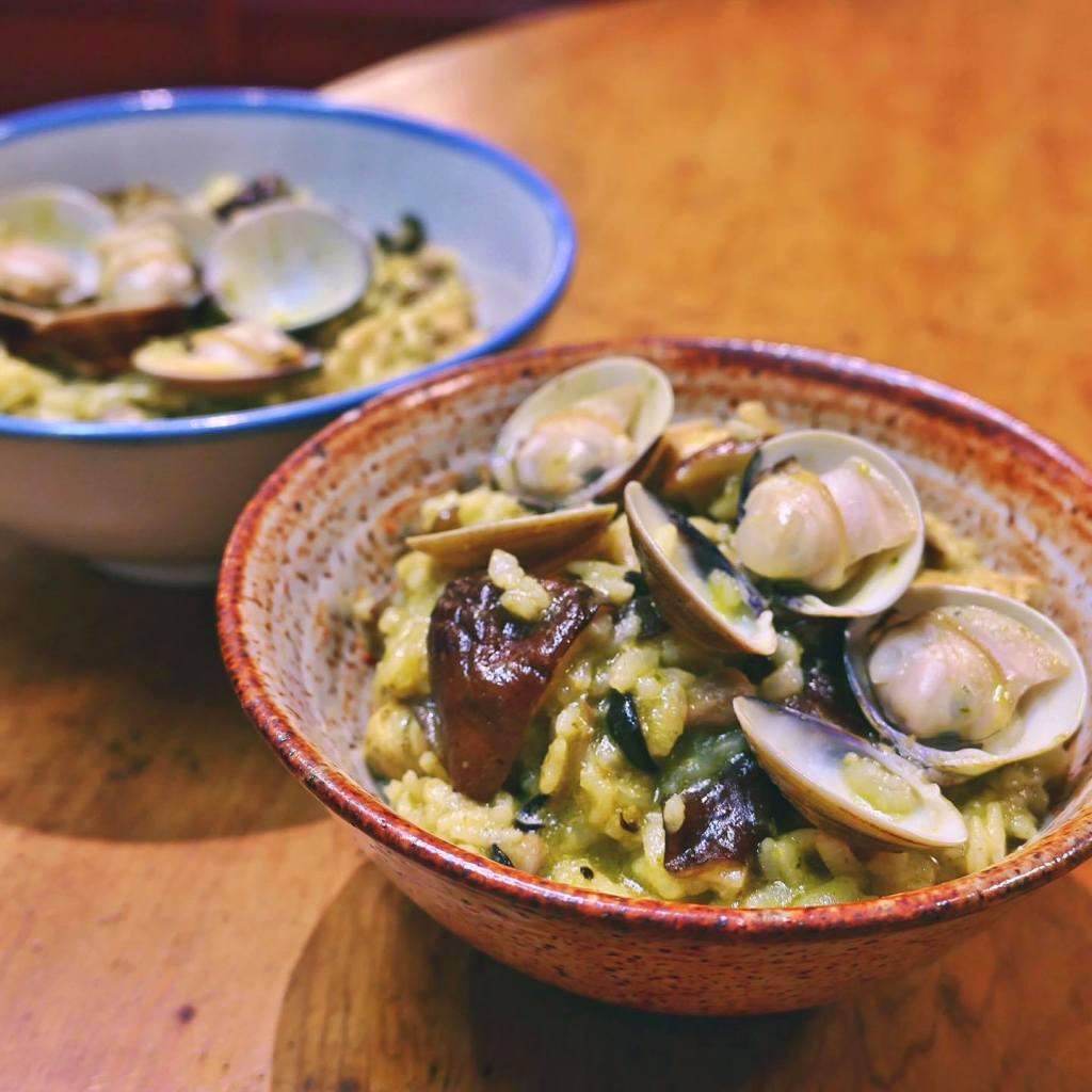青醬蛤蜊燉飯